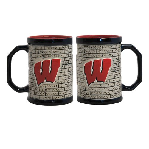 Boelter Brands University of Wisconsin Stone Wall 15 oz. Coffee Mugs 2-Pack