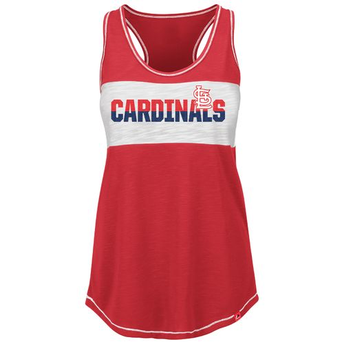 Majestic Women's St. Louis Cardinals Game Time Glitz Tank Top