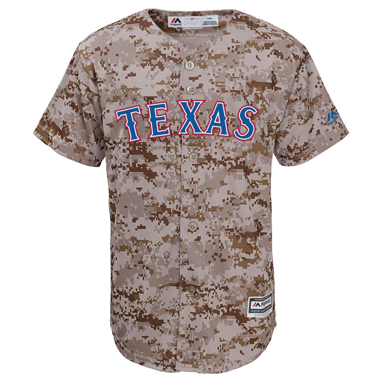 Majestic Boys' Texas Rangers Camo Jersey