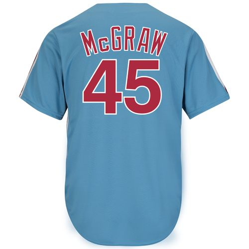 Majestic Men's Philadelphia Phillies Tug McGraw #45 Cooperstown Cool Base 1980 Replica Jersey - view number 1