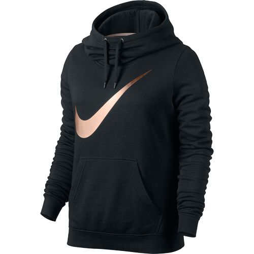 Nike™ Women's Club Graphic Funnel Hoodie