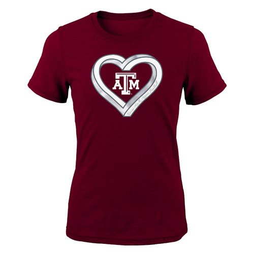 Gen2 Girls' Texas A&M University Infinite Heart Fashion Fit T-shirt