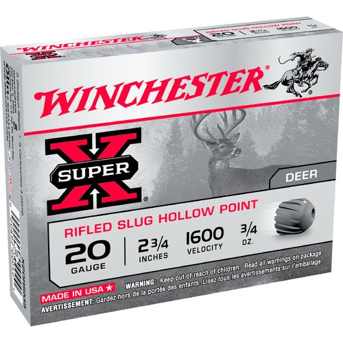 Winchester Smooth Bore 20 Gauge Rifled Slugs