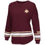 Colosseum Athletics™ Women's Texas State University All Around Oversize Long Sleeve T-shirt