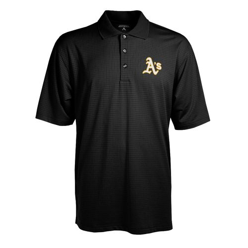 Antigua Men's Oakland Athletics Phoenix Pointelle Polo Shirt
