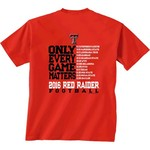 New World Graphics Men's Texas Tech University Schedule T-shirt