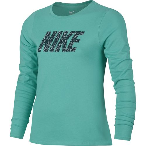 Nike Girls' Pattern Crew Long Sleeve Shirt