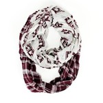 ZooZatz Women's Texas A&M University Tartan Infinity Scarf