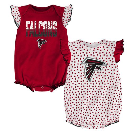 NFL Infants' Atlanta Falcons Polka Fan 2-Piece Creeper