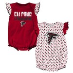 NFL Infants' Atlanta Falcons Polka Fan 2-Piece Creeper Set