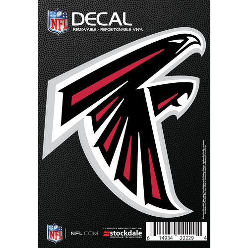 "Stockdale Atlanta Falcons 3"" x 5"" Single Color Logo Decal"
