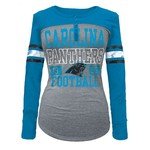 5th & Ocean Clothing Juniors' Carolina Panthers Long Sleeve Henley