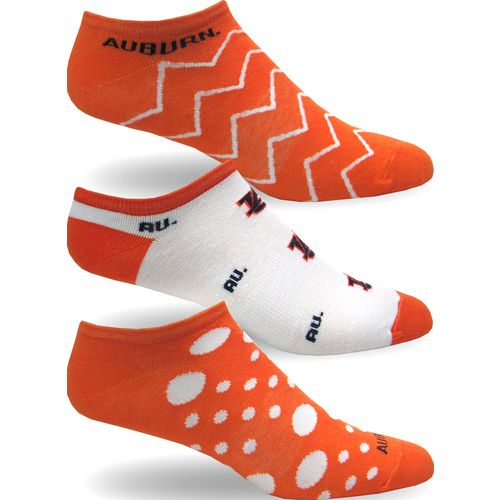 Topsox Women's Auburn University No-Show Socks 3 Pairs