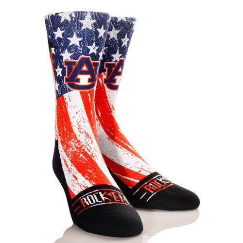 Rock 'Em Apparel Men's Auburn University Stars and Stripes Socks
