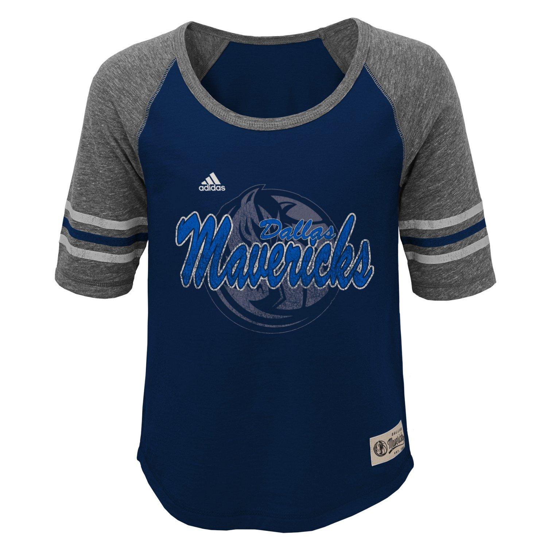 adidas™ Girls' Dallas Mavericks Hi-Lo T-shirt