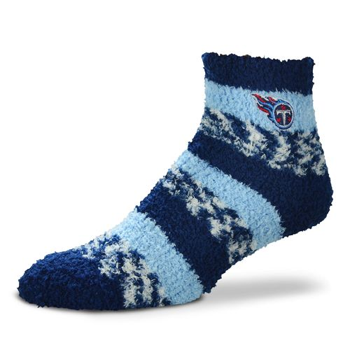FBF Originals Women's Tennessee Titans Pro Stripe Sleep Socks