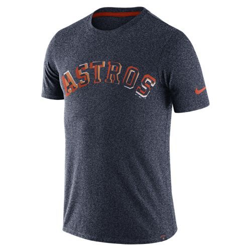 Nike Men's Houston Astros Marled Wordmark T-shirt