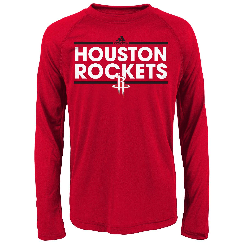 adidas™ Boys' Houston Rockets Dassler Long Sleeve T-shirt