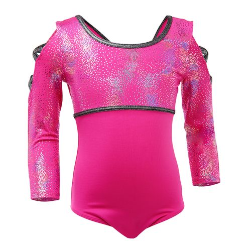 Capezio® Girls' Future Star Rainbow Shimmer 3/4 Sleeve Leotard