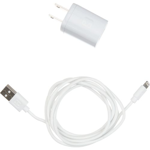 iHome 5' Lightning® Sync Cable and Wall Charger - view number 1