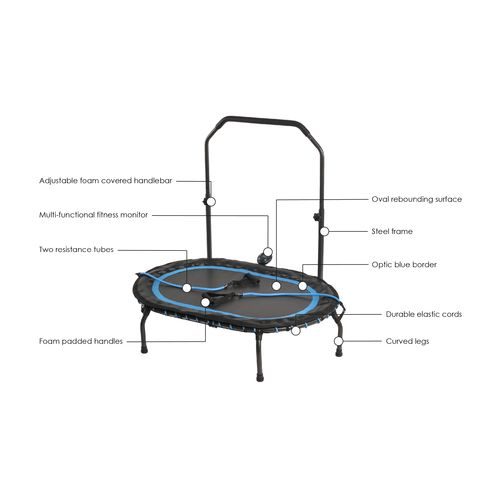 Stamina InTone Oval Fitness Trampoline - view number 9