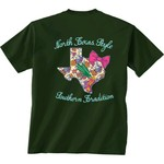 New World Graphics Women's University of North Texas Bright Bow Short Sleeve T-shirt - view number 1