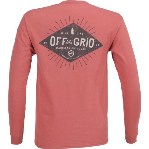 Magellan Outdoors Men's Off the Grid Long Sleeve Pocket T-shirt