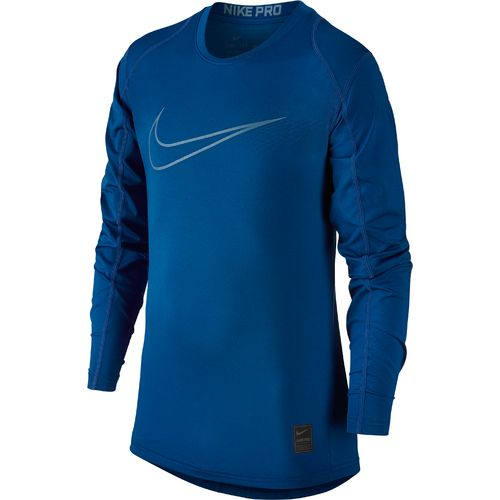 Display product reviews for Nike Boys' Hypercool High Brand Read Fitted Long Sleeve Top