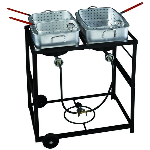 Display product reviews for Outdoor Gourmet Propane Fish Fry Cart Set
