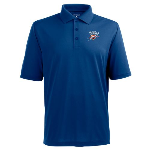 Antigua Men's Oklahoma City Thunder Pique Xtra-Lite Polo Shirt