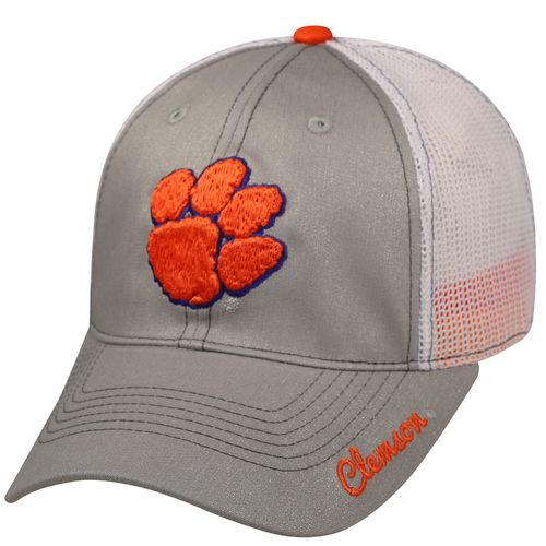 Top of the World Women's Clemson University Glamour Adjustable 2-Tone Cap - view number 1