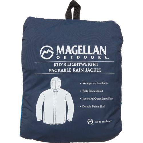 Magellan Outdoors Girls' Packable Rain Jacket