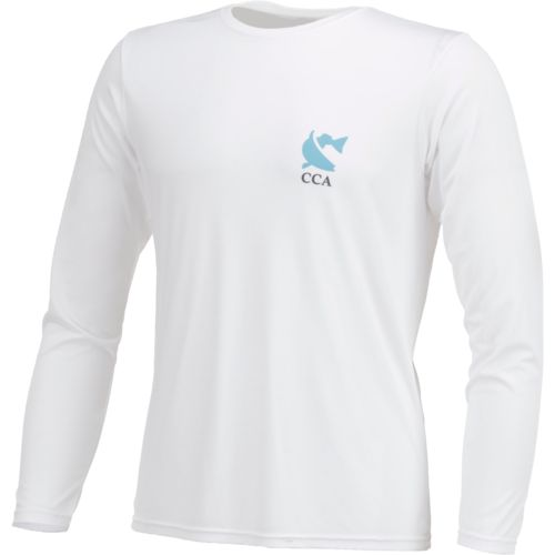 CCA Men's Performance Coastal World Long Sleeve T-shirt - view number 3