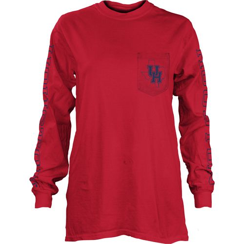 Three Squared Juniors' University of Houston Mystic Long Sleeve T-shirt