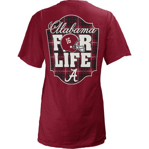 Three Squared Juniors' University of Alabama Team For Life Short Sleeve V-neck T-shirt