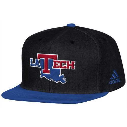 adidas Men's Louisiana Tech University Sideline Player Flat Brim Snapback 2-Tone Cap - view number 1