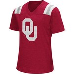 Colosseum Athletics Girls' University of Oklahoma Rugby Short Sleeve T-shirt - view number 1
