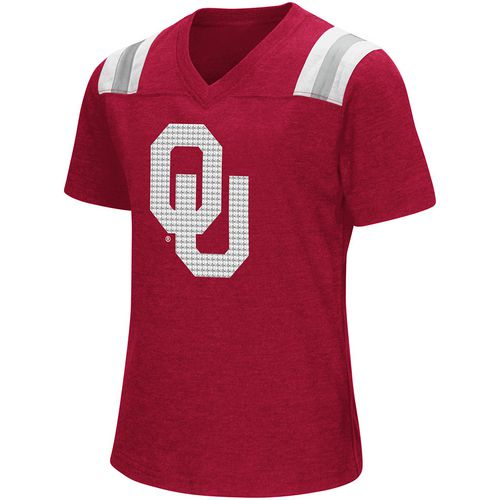 Colosseum Athletics Girls' University of Oklahoma Rugby Short Sleeve T-shirt