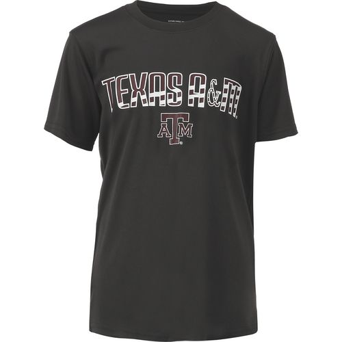 Colosseum Athletics Boys' Texas A&M University Team Stripe T-shirt