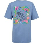New World Graphics Women's Texas Tech University Comfort Color Circle Flowers T-shirt - view number 1