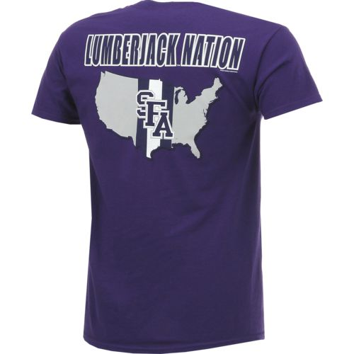 New World Graphics Men's Stephen F. Austin State University Stripe Nation T-shirt - view number 2