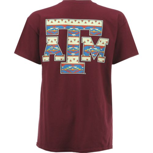 New World Graphics Women's Texas A&M University Logo Aztec T-shirt