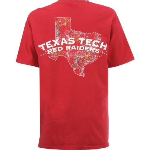 New World Graphics Women's Texas Tech University Comfort Color Puff Arch T-shirt