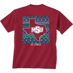 New World Graphics Women's Midwestern State University Terrain State T-shirt - view number 1