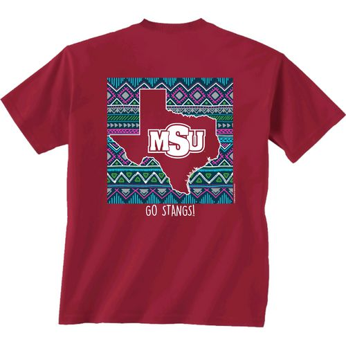 New World Graphics Women's Midwestern State University Terrain State T-shirt