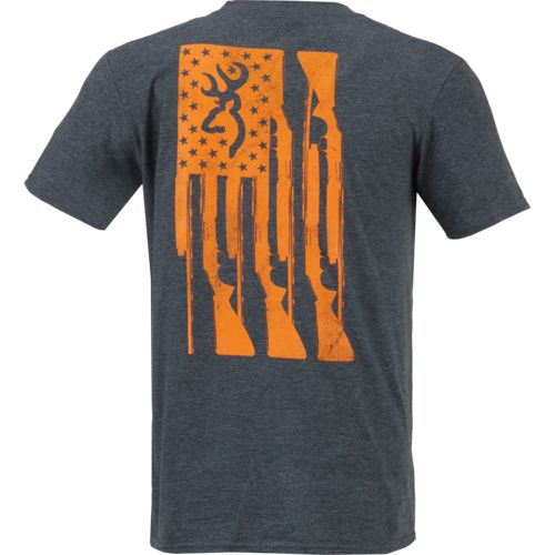 Browning Men's Rifle Flag T-shirt