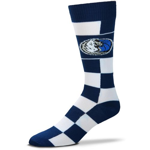 For Bare Feet Dallas Mavericks Jumbo Check Thin Socks