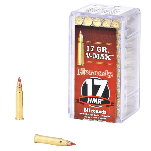 Image for hornady v max 17 hmr 174 17 grain rimfire ammunition from