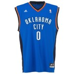 adidas Men's Oklahoma City Thunder Russell Westbrook No. 0 Revolution 30 Replica Jersey - view number 1