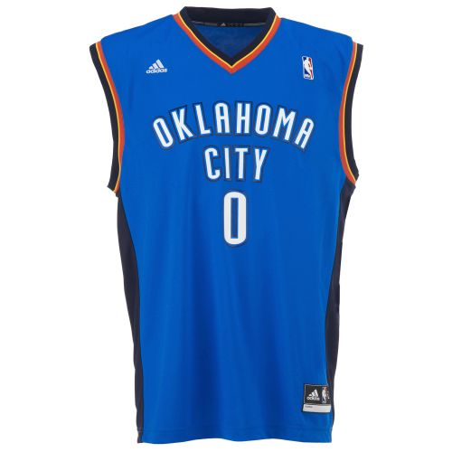 adidas™ Men's Oklahoma City Thunder Russell Westbrook #0 Revolution 30 Replica Jersey